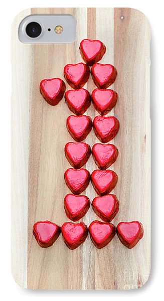 The One Of Hearts IPhone Case by Anne Gilbert