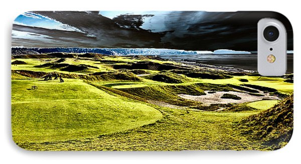 The Only Tree On The Chambers Bay Course - #15 IPhone Case by David Patterson