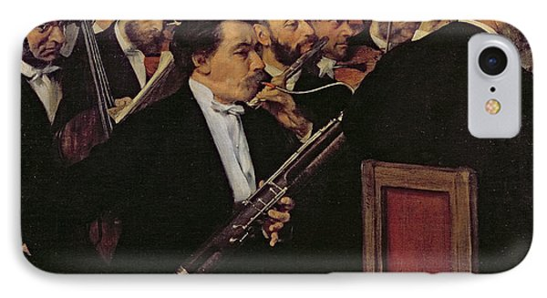 The Opera Orchestra IPhone Case by Edgar Degas