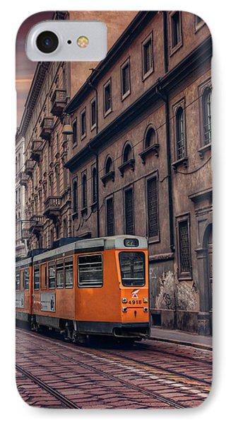 The Orange Tram IPhone Case by Carol Japp