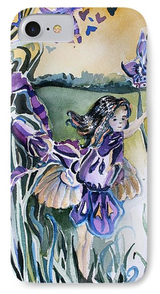 IPhone Case featuring the painting The Orchid Fairy by Mindy Newman