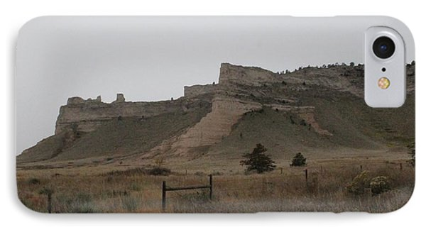 IPhone Case featuring the photograph The Oregon Trail Scotts Bluff Nebraska by Christopher Kirby