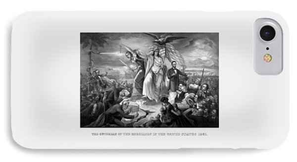 The Outbreak Of The Rebellion In The United States IPhone Case by War Is Hell Store