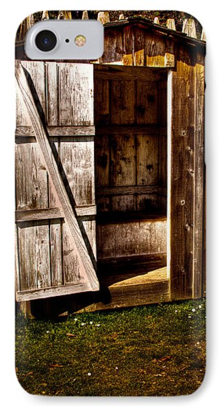 The Outhouse At Fort Nisqually Phone Case by David Patterson