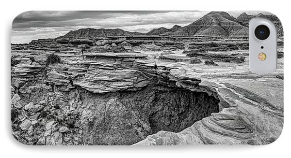The Overhang - Black And White - Toadstool Geologic Park IPhone Case