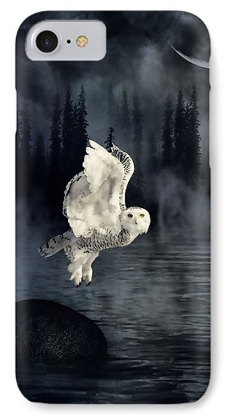 The Owl And Her Mystical Moon IPhone Case by Heather King