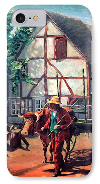 The Ox Cart Phone Case by Hanne Lore Koehler