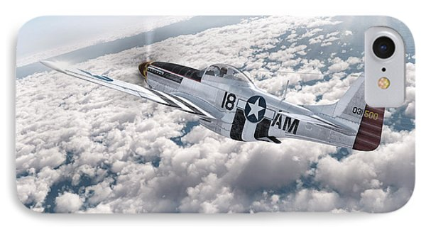 The P-51 Mustang IPhone Case by David Collins