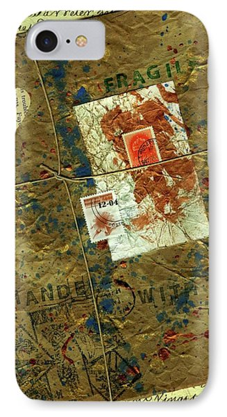 IPhone Case featuring the mixed media The Package by P J Lewis
