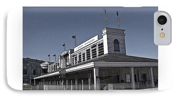 The Paddock At Churchill Downs In Black And White - With Poster Edges IPhone Case