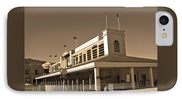The Paddock At Churchill Downs In Sepia Tones IPhone Case