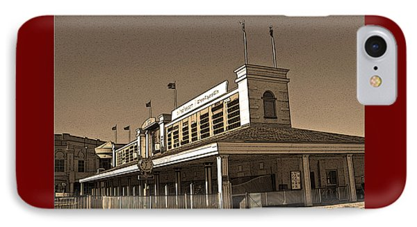 The Paddock At Churchill Downs In Sepia Tones - With Poster Edges IPhone Case