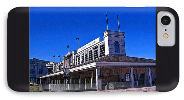 The Paddock At Churchill Downs With Poster Edges IPhone Case