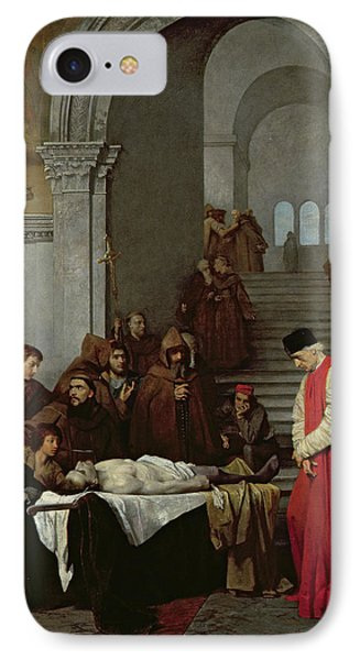 The Painter Luca Signorelli Standing By The Body Of His Rival's Dead Son IPhone Case