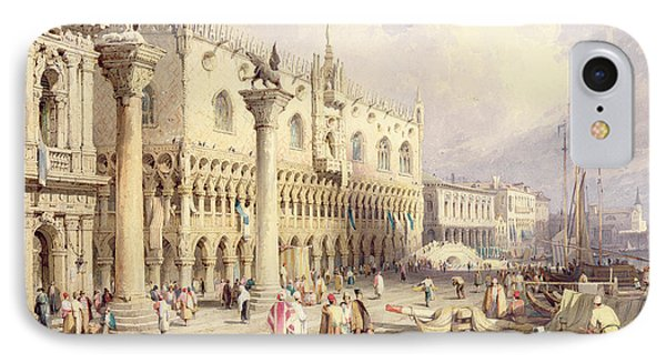 The Palaces Of Venice Phone Case by Samuel Prout