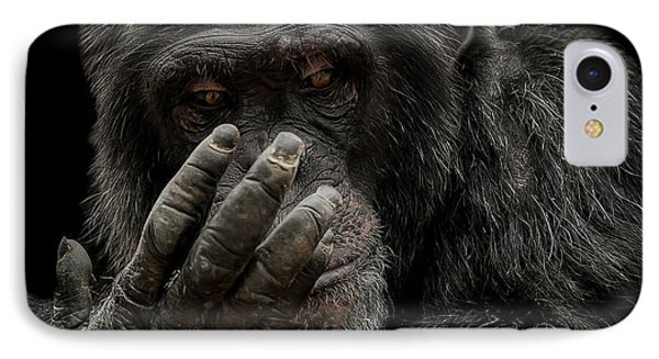 Chimpanzee iPhone 7 Case - The Palm Reader by Paul Neville
