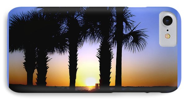 IPhone Case featuring the photograph The Palms At Sunset by Debra Forand