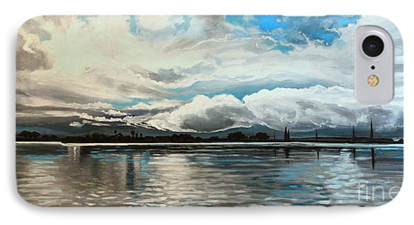 IPhone Case featuring the painting The Panoramic Painting by Elizabeth Robinette Tyndall