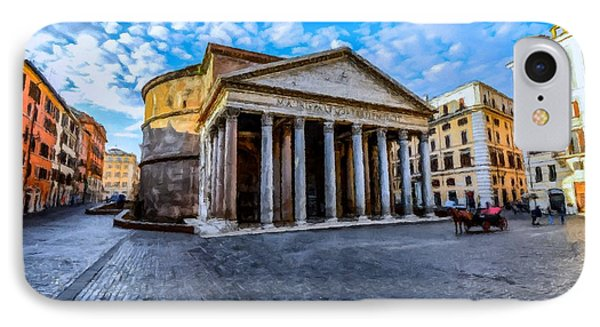 The Pantheon Rome IPhone Case by David Dehner