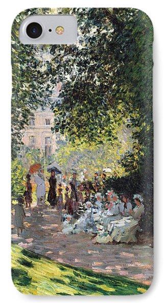 The Parc Monceau IPhone Case by Claude Monet