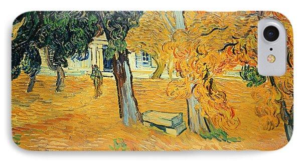 The Park At Saint Pauls Hospital Saint Remy Phone Case by Vincent van Gogh