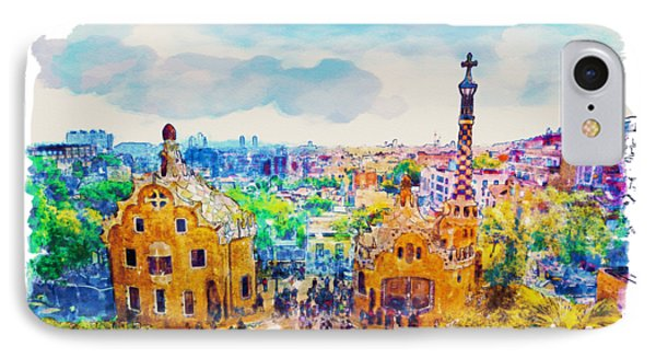 Park Guell Barcelona IPhone Case by Marian Voicu