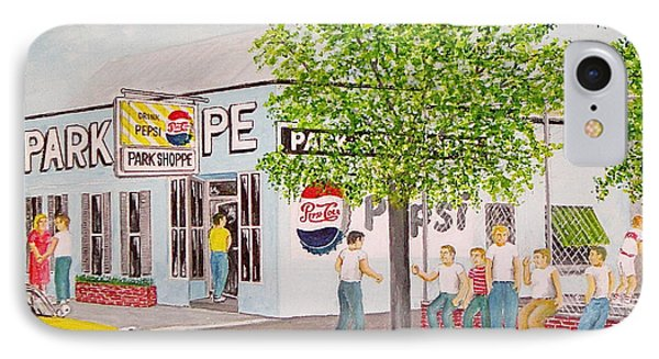 The Park Shoppe Portsmouth Ohio IPhone Case by Frank Hunter