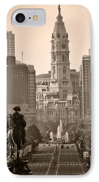 The Parkway In Sepia IPhone Case by Bill Cannon