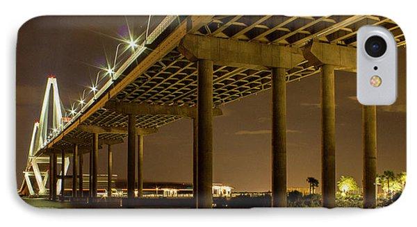 A Great Passageway Arthur Ravenel Jr Bridge Charleston South Carolina IPhone Case by Reid Callaway