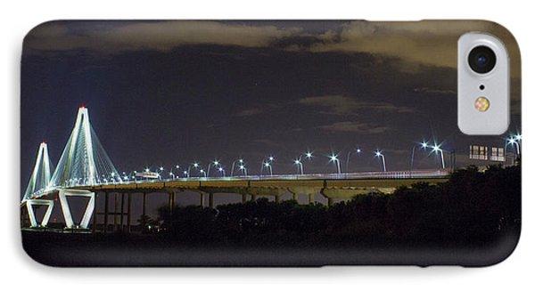 The Path Above The Ships Arthur Ravenel Jr Bridge Charleston South Carolina IPhone Case by Reid Callaway