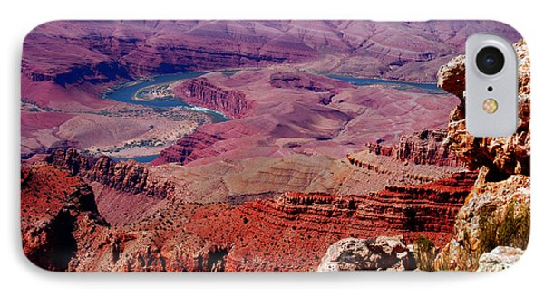 The Path Of The Colorado River Phone Case by Susanne Van Hulst