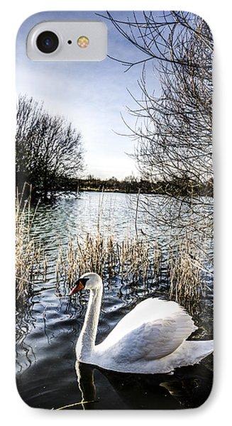 The Peaceful Swan IPhone Case by David Pyatt