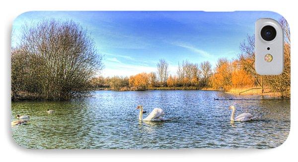 The Peaceful Swan Lake IPhone Case by David Pyatt
