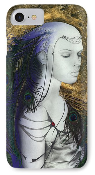 IPhone Case featuring the painting The Peacock Queen by Ragen Mendenhall