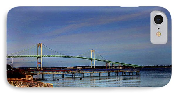 IPhone Case featuring the photograph The Pell Bridge Newport Ri by Tom Prendergast