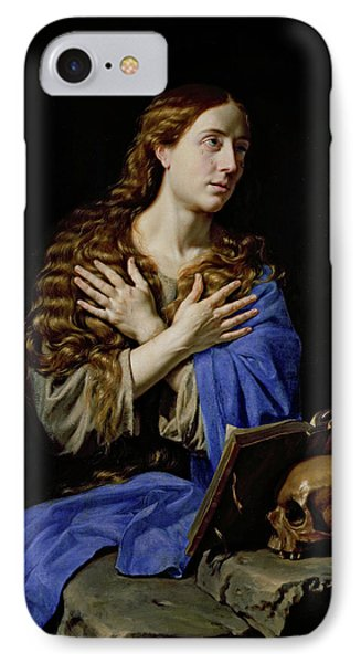 The Penitent Magdalene IPhone Case by Philippe de Champaigne