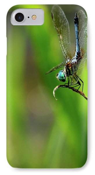 IPhone Case featuring the photograph The Performer Dragonfly Art by Reid Callaway