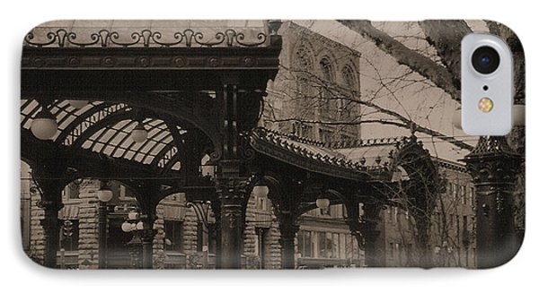 The Pergola At Pioneer Square IPhone Case by Nadalyn Larsen