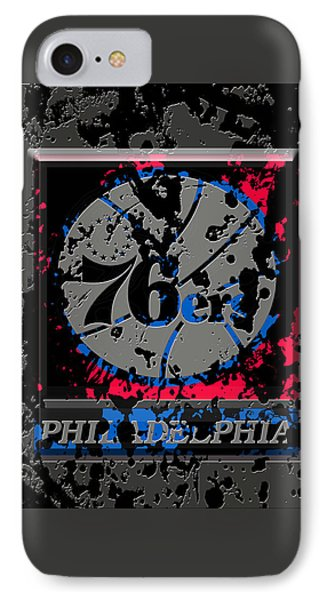 The Philadelphia 76ers 1a IPhone Case by Brian Reaves