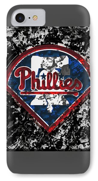 The Philadelphia Phillies 1a IPhone Case by Brian Reaves