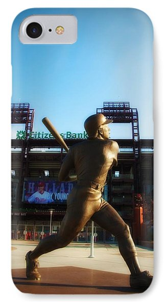 The Phillies - Mike Schmidt IPhone Case by Bill Cannon
