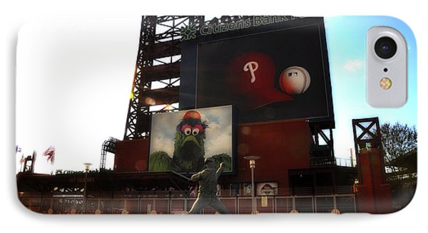 The Phillies - Steve Carlton IPhone Case by Bill Cannon