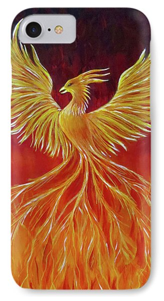 IPhone Case featuring the painting The Phoenix by Teresa Wing