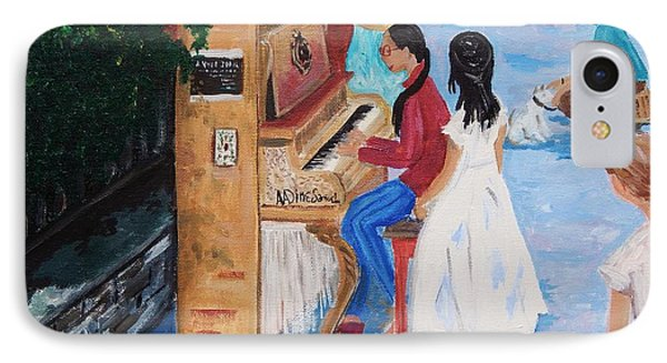 The Piano Player IPhone Case by Reb Frost
