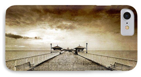 the pier at Llandudno IPhone Case by Meirion Matthias