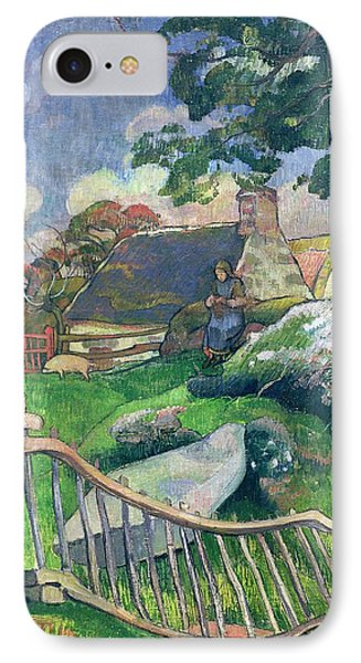 The Pig Keeper Phone Case by Paul Gauguin
