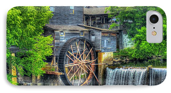 The Pigeon Forge Mill Old Mill Art IPhone Case