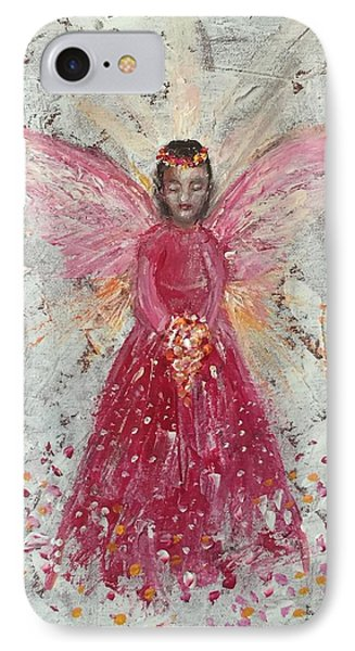 The Pink Angel 2 Phone Case by Jun Jamosmos