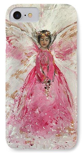 The Pink Angel  Phone Case by Jun Jamosmos