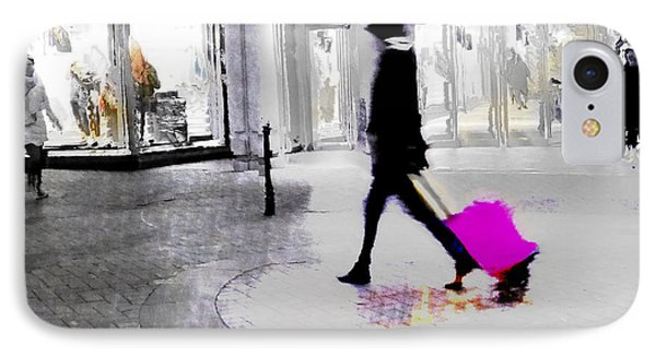 IPhone Case featuring the photograph The Pink Bag by LemonArt Photography